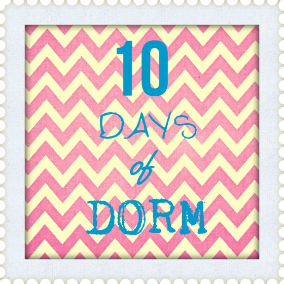 10 days of dorm, spirit garland, DIY, captains, CNU, day 8, anchors