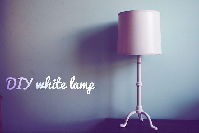 10 Days of Dorm, DIY, lamp, DIY lamp, DIY white lamp, bits and little pieces, day 6, spray paint, dorm, college, dorm DIY